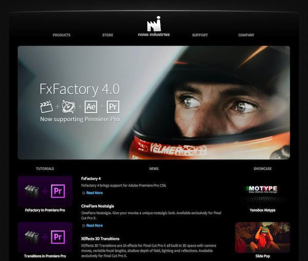 FX Factory Plugin Now for Premier Pro